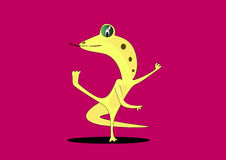 Dancing Lizards. Lizard comedy dancing with dancers Royalty Free Stock Photography