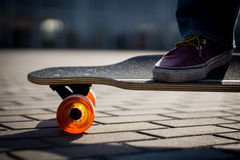 Dancing on longboard Royalty Free Stock Images