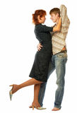 Dancing loving couple. Stock Photos