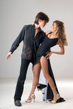 Dancing loving young couple Royalty Free Stock Photo