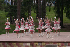 Dancing majorettes. Stock Photography