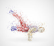 Dancing male. Abstract image of a dancing male from the circles. Eps 10 Royalty Free Stock Photography