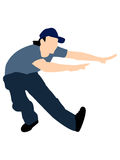 Dancing male with cap Stock Photo