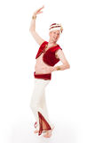 Dancing male genie Royalty Free Stock Images