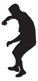 Dancing Man. A silhouette of a man dancing vector illustration