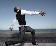Dancing man Royalty Free Stock Images