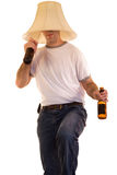 Dancing Man. A person drinking alcohol dancing to some music Royalty Free Stock Photos