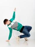 Dancing man in studio Stock Image
