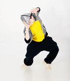 Dancing man in studio Stock Photos