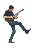Dancing Man With Guitar Stock Photos