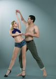 Dancing man and woman Royalty Free Stock Photography
