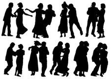 Dancing mans and womens Stock Image