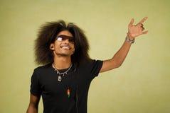 Dancing maschio dell'afroamericano Immagini Stock