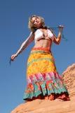 Dancing maturo della donna fotografia stock libera da diritti