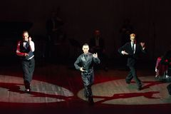 Dancing men Stock Photography