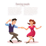 Dancing men and woman Royalty Free Stock Photos