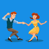 Dancing men and woman Stock Photography