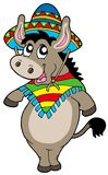 Dancing Mexican donkey stock illustration