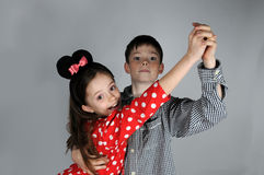 Dancing with  Minnie Mouse Stock Images