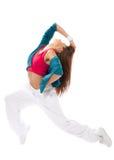 Dancing moderno del danzatore del modello della donna Fotografia Stock