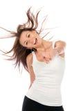 Dancing moderno del danzatore della donna di stile Fotografia Stock Libera da Diritti