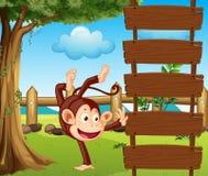 A dancing monkey Stock Image