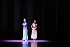 Dancing in the moonlight-The second act of dance drama-Shawan events of the past. Guangdong Shawan Town is the hometown of ballet music, the past focuses on the Royalty Free Stock Images