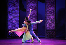 Dancing in the moonlight-The second act of dance drama-Shawan events of the past. Guangdong Shawan Town is the hometown of ballet music, the past focuses on the Royalty Free Stock Photo