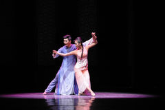 Dancing in the moonlight-The second act of dance drama-Shawan events of the past Royalty Free Stock Image