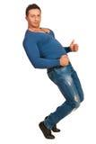 Dancing muscular man Royalty Free Stock Photography
