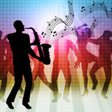 Dancing Music Represents Sound Track And Acoustic Stock Photo