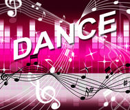 Dancing Music Shows Sound Track And Melody Royalty Free Stock Image