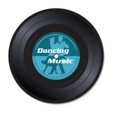 Dancing music vinyl record Stock Photos