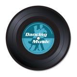 Dancing music vinyl record vector illustration