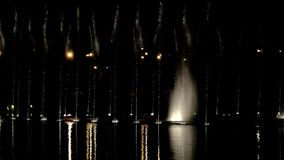 Dancing fountains with lights-episode 14 stock video