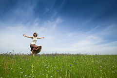 Dancing on nature Royalty Free Stock Images
