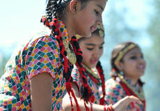 Dancing Nepali Girls Royalty Free Stock Photography
