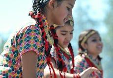 Dancing Nepali Girls Royalty Free Stock Photography