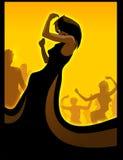 Dancing nero della diva Immagini Stock