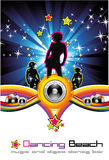 Dancing Night Background Stock Images