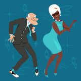 Dancing old people Royalty Free Stock Image
