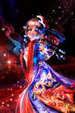 Dancing oriental woman Stock Photo