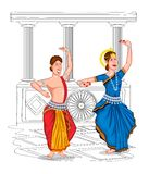 Dancing Oriya couple Royalty Free Stock Images