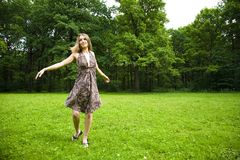 Dancing Outdoors Stock Image
