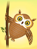Dancing owl Royalty Free Stock Image