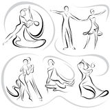 Dancing pair royalty free illustration