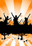 Dancing at a party royalty free illustration