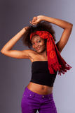 Dancing party girl Royalty Free Stock Images