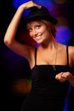 Dancing party girl Royalty Free Stock Image