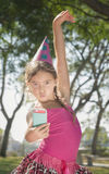 Dancing Party Girl Selfie Royalty Free Stock Photos